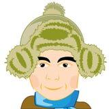 futerkowego kapeluszu mężczyzna Zdjęcia Royalty Free