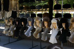 Futerkowi kapelusze Fotografia Stock