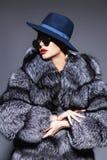 Futerkowy żakiet i kapelusz Zdjęcia Royalty Free