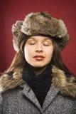 futerkowy nosi kapelusz kobiety Fotografia Royalty Free