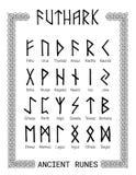 Futhark - alfabeto rúnico fotos de archivo