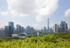 Futian Central District, Shenzhen, Guangdong, China cityscape Stock Photos