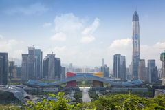 Futian Central District, Shenzhen, Guangdong, China cityscape Royalty Free Stock Photos