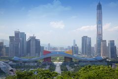 Futian Central District, Shenzhen, Guangdong, China cityscape Stock Image