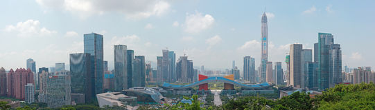 Futian Central District, Shenzhen, Guangdong, China Panorama tab Stock Photo