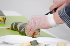 Futo maki, Dashimaki, Philadelphia uramaki Royalty Free Stock Photo