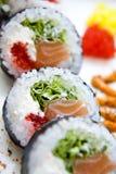 Futomaki de sushi de plat photos libres de droits