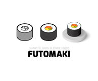 Futomaki icon in different style Royalty Free Stock Photo