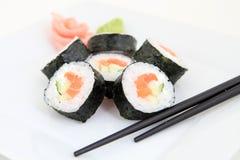 Futomaki, salmon. Traditional japanese food Stock Photo