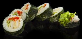Futomaki sushi with squid Royalty Free Stock Photo