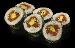 Futomaki, tuna and avocado Stock Photo