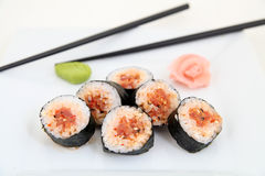 Futomaki, tuna. Traditional japanese sushi rolls Stock Photo