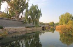 Futong old street along canal Beijing China Stock Image