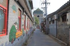 Futong old street Drum tower Beijing China Stock Photo