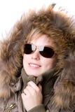 futra kołnierzyk okulary przeciwsłoneczne Zdjęcia Royalty Free