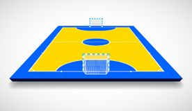 Futsal法院或领域透视图传染媒介例证 皇族释放例证