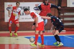 Futsal - Δαβίδ Filinger και Matej Slovacek στοκ εικόνα