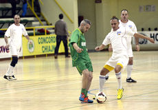 Futsal action Stock Images