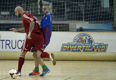Futsal action Stock Photo