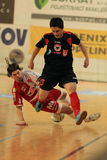Futsal - Agon Rexha and Tomas Matejka Royalty Free Stock Images