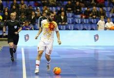 Futsal amistoso: Ucrania v España en Kiev, Ucrania Imágenes de archivo libres de regalías