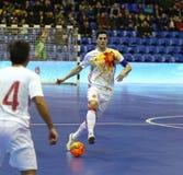 Futsal amistoso: Ucrania v España en Kiev, Ucrania Imagen de archivo libre de regalías