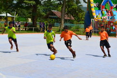 Futsal competition. Within rural,thailand Royalty Free Stock Photos