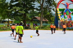 Futsal competition. Within rural,thailand Royalty Free Stock Image