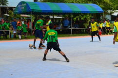 Futsal competition. Within rural,thailand Stock Images