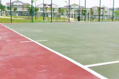 Futsal court concrete flooring and lines Stock Photo