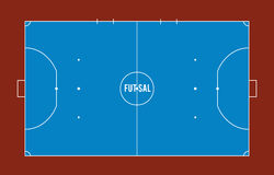 Futsal court or field top view  illustration. Stock Images
