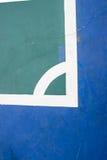Futsal court indoor sport stadium with mark. White line in the stadium Royalty Free Stock Photography