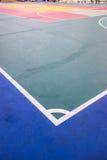 Futsal court indoor sport stadium with mark. White line in the stadium Royalty Free Stock Photo