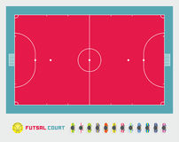 Futsal court Royalty Free Stock Image