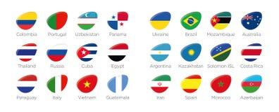 Futsal elipsy ikony nowożytni symbole royalty ilustracja
