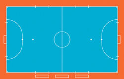 Futsal  field Royalty Free Stock Photo