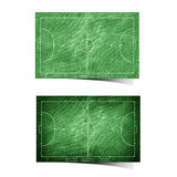 futsal field recycled paper Royalty Free Stock Photography