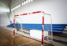 Futsal fotbollmål arkivfoto