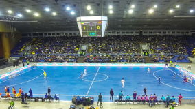 Futsal Friendly match Ukraine v Spain stock video footage