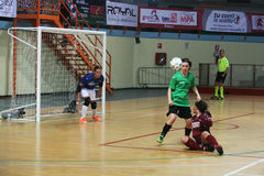 Futsal game Royalty Free Stock Photos
