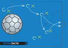 Futsal game strategy plan. Vector illustration Stock Photography