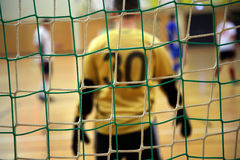 Futsal goalkeeper Royalty Free Stock Photos