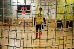 Futsal goalkeeper Royalty Free Stock Images