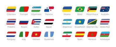 Futsal ikony nowożytni symbole ilustracji