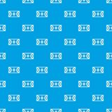 Futsal or indoor soccer field pattern seamless blue. Futsal or indoor soccer field pattern repeat seamless in blue color for any design. Vector geometric Royalty Free Stock Image