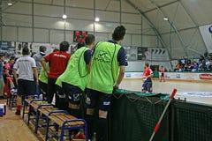Futsal kick off. The kick off of the italian professional futsal match feldi eboli vs acqua & sapone Stock Image