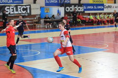 Futsal - Michal Vejvoda and Jakub Zdansky Stock Photography