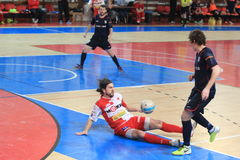 Futsal - Michal Vejvoda and Matej Slovacek Royalty Free Stock Photos