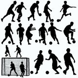 Futsal players silhouettes vector Stock Photos