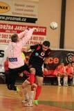 Futsal struggle Stock Image
